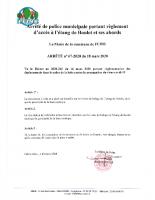 67-2020 circuation acès et abords étang de boulet – COVID 19